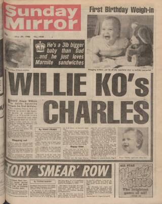 cover page of Sunday Mirror published on May 29, 1983