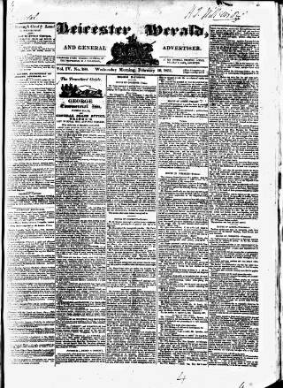 cover page of Leicester Herald published on February 16, 1831