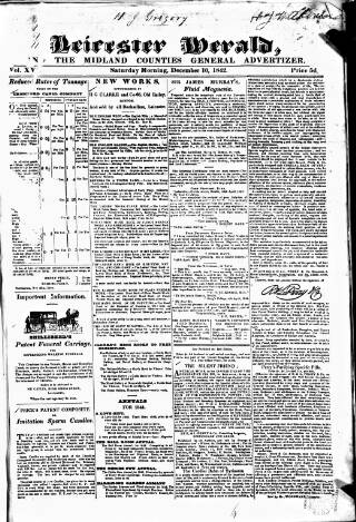 cover page of Leicester Herald published on December 10, 1842