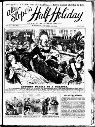 cover page of Ally Sloper's Half Holiday published on October 18, 1890