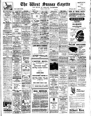 cover page of West Sussex Gazette published on May 18, 1950