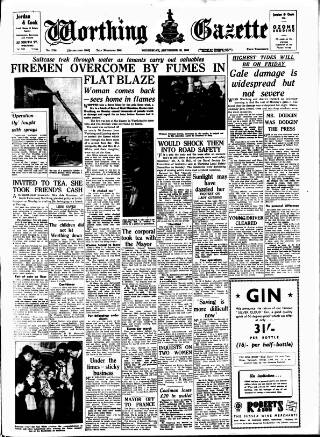 cover page of Worthing Gazette published on September 23, 1953