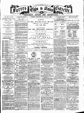 cover page of Forres Elgin and Nairn Gazette, Northern Review and Advertiser published on May 26, 1897