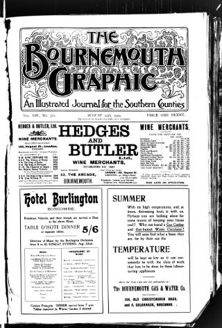 cover page of Bournemouth Graphic published on August 19, 1909