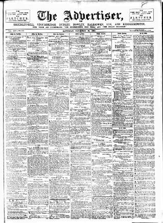 cover page of County Advertiser & Herald for Staffordshire and Worcestershire published on December 10, 1898