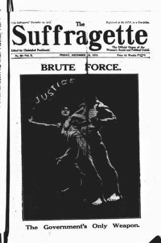 cover page of The Suffragette published on December 19, 1913