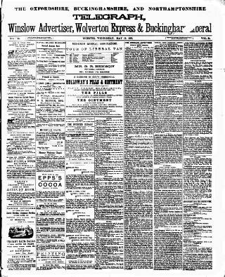 cover page of Oxfordshire Telegraph published on May 18, 1892