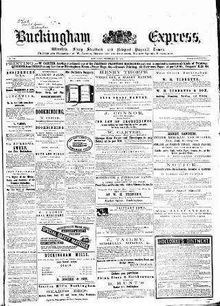 cover page of Buckingham Express published on February 16, 1867
