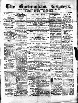 cover page of Buckingham Express published on May 16, 1891