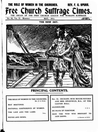 cover page of Free Church Suffrage Times published on May 1, 1915