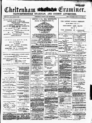 cover page of Cheltenham Examiner published on May 5, 1880