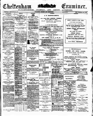 cover page of Cheltenham Examiner published on May 22, 1907