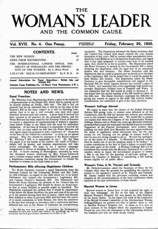 cover page of Common Cause published on February 20, 1925