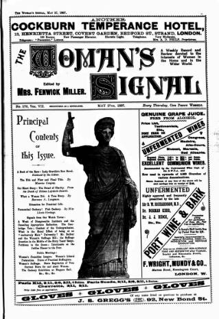 cover page of Woman's Signal published on May 27, 1897
