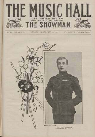 cover page of Music Hall and Theatre Review published on May 31, 1907