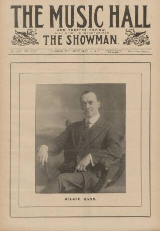 cover page of Music Hall and Theatre Review published on May 16, 1912