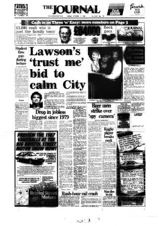 cover page of Newcastle Journal published on October 17, 1986