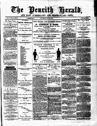 cover page of Cumberland & Westmorland Herald published on May 26, 1883