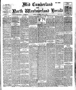 cover page of Cumberland & Westmorland Herald published on April 13, 1901