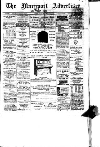 cover page of Maryport Advertiser published on April 19, 1889