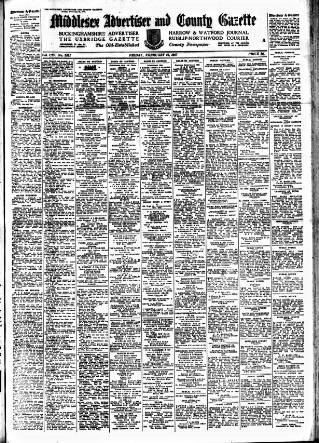 cover page of Uxbridge & W. Drayton Gazette published on February 21, 1947