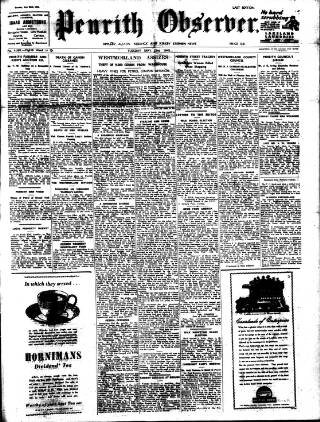 cover page of Penrith Observer published on May 22, 1945