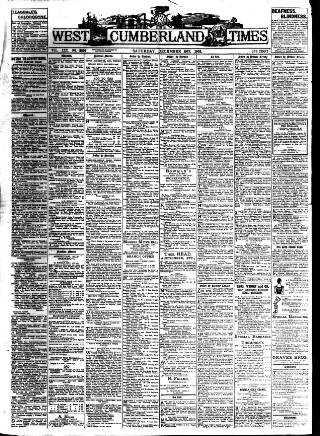 cover page of West Cumberland Times published on December 19, 1903