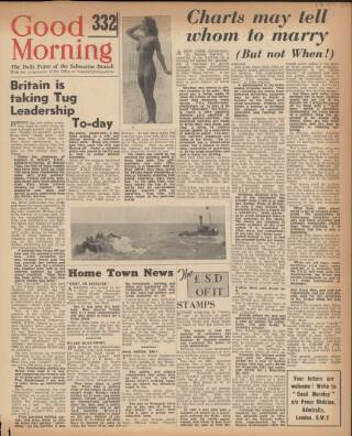 cover page of Good Morning published on May 9, 1944