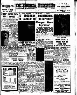 cover page of Drogheda Independent published on May 5, 1962