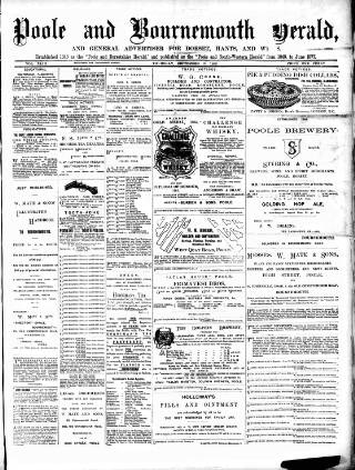 cover page of Poole & Dorset Herald published on September 19, 1889