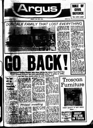 cover page of Drogheda Argus and Leinster Journal published on July 14, 1978