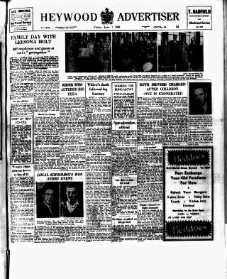 cover page of Heywood Advertiser published on June 1, 1962