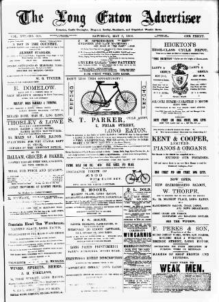 cover page of Long Eaton Advertiser published on May 5, 1900
