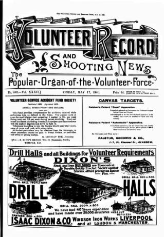 cover page of Volunteer Record & Shooting News published on May 17, 1901