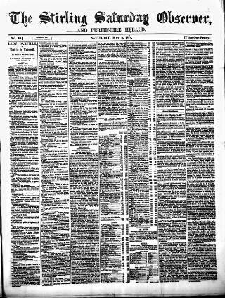 cover page of Stirling Observer published on May 9, 1874