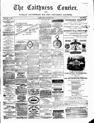 cover page of Caithness Courier published on January 28, 1881