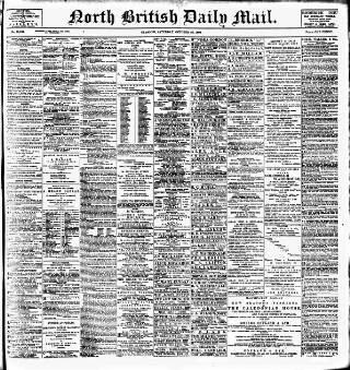 cover page of North British Daily Mail published on October 22, 1898