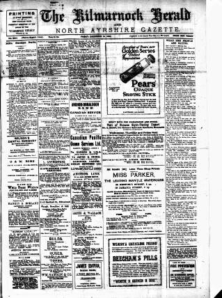 cover page of Kilmarnock Herald and North Ayrshire Gazette published on December 13, 1918
