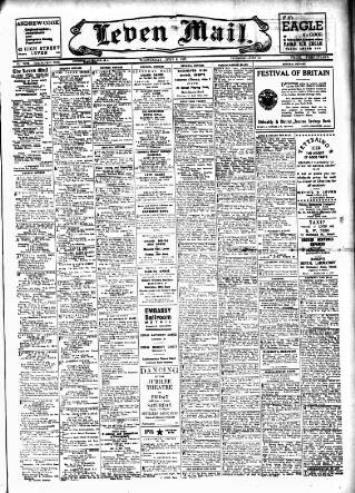 cover page of Leven Mail published on June 6, 1951