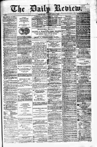 cover page of Daily Review (Edinburgh) published on June 6, 1879