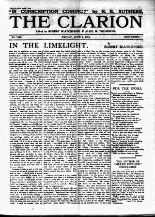 cover page of Clarion published on June 4, 1915