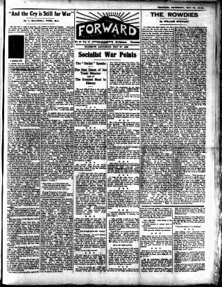 cover page of Forward (Glasgow) published on May 26, 1923