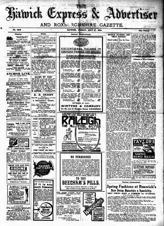 cover page of Hawick Express published on May 17, 1918