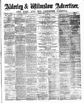 cover page of Alderley & Wilmslow Advertiser published on April 15, 1882