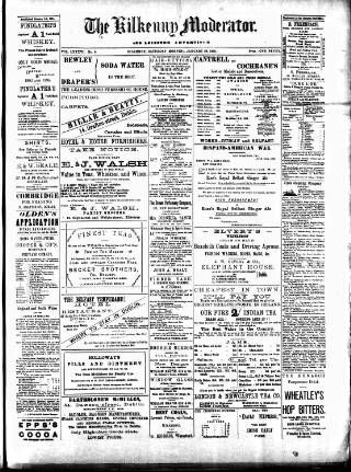 cover page of Kilkenny Moderator published on January 28, 1899