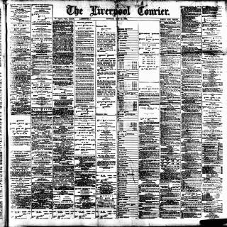 cover page of Liverpool Courier and Commercial Advertiser published on May 9, 1892